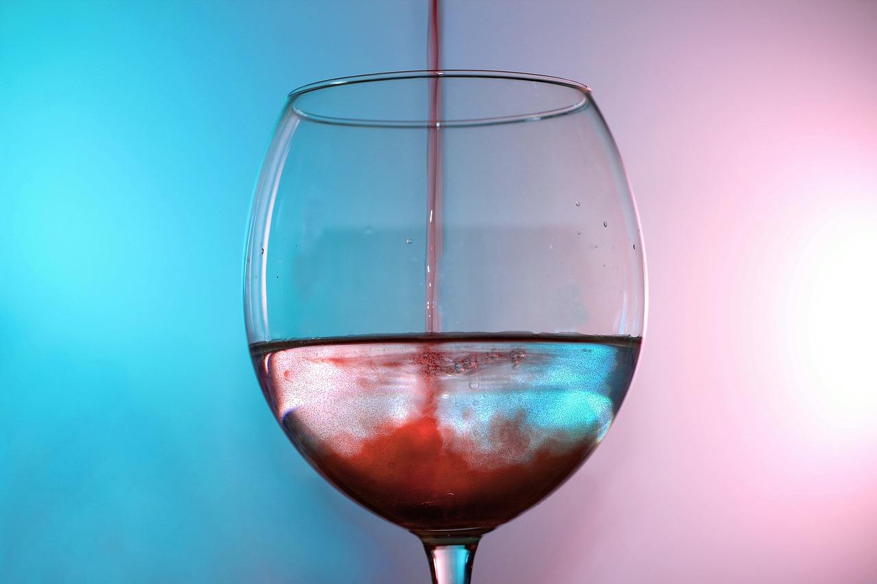 Glas wijn met water