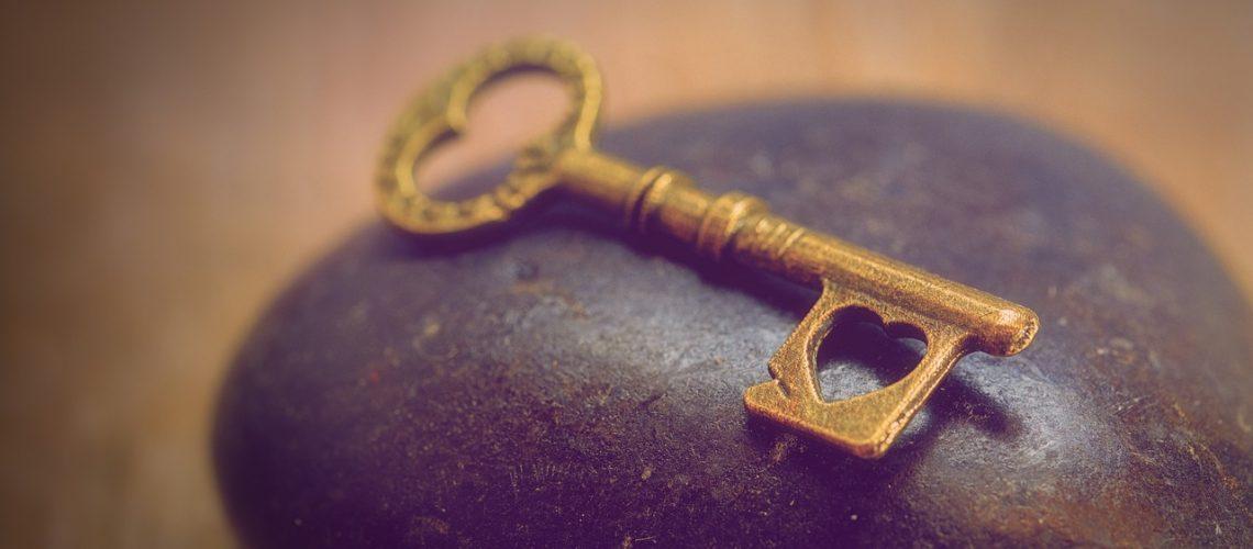 sleutel met hart